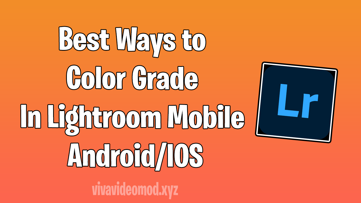 Best Ways to Color Grade In Lightroom Mobile Android and IOS